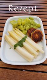 Spargel mit veganem Kartoffelsalat