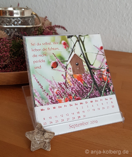 September Tischkalender 2019