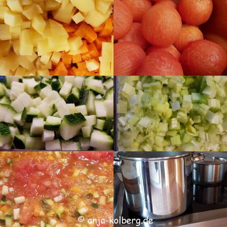 Vegane Suppe Zutaten