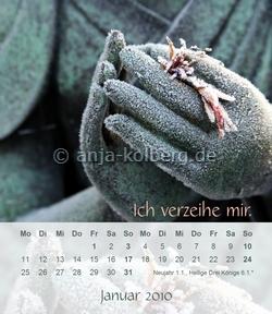 Januar-Blatt des Tischkalenders 2010