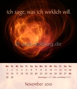 Motiv November 2010 - Tischkalender - Klick zum Shop - Tischkalender 2011