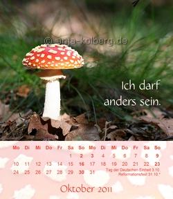 Oktober 2010 - Tischkalender 'Ich trau mich was'