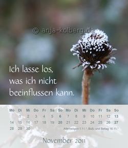 November Tischkalender 2011