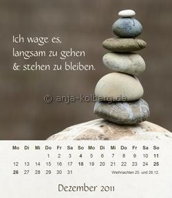 Dezember 2011 Tischkalender