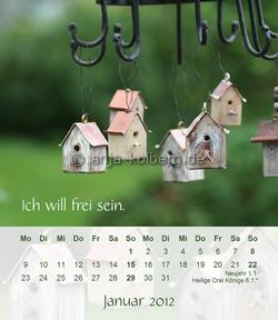 Januar - Tischkalender 2012