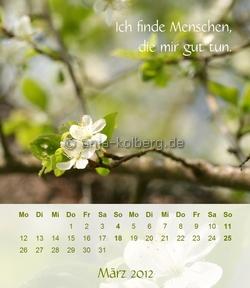 März - Tischkalender 2012