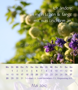 Tischkalender 2012 - Motiv Mai
