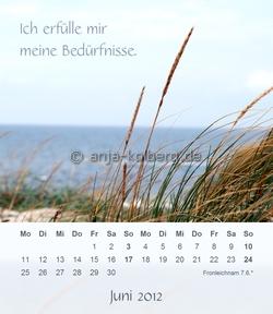 Juni - Tischkalender 2012