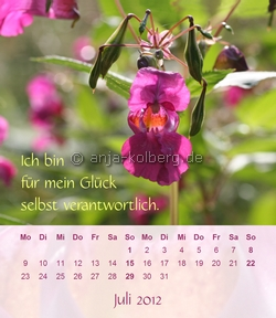 Tischkalender 2012 - Ich will frei sein