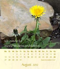 August 2012 - Tischkalender von Anja Kolberg