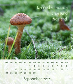 September - Tischkalender 2012
