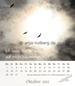 Tischkalender 2012 - Oktober
