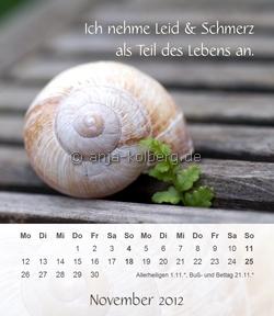 November - Tischkalender 2012