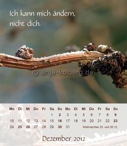 Dezember - Tischkalender 2012