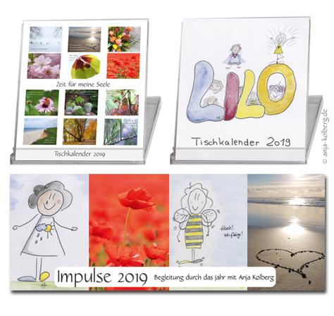 Tischkalender und Kalender-Impulse 2019