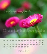 Tischkalender 2009 - Motiv März